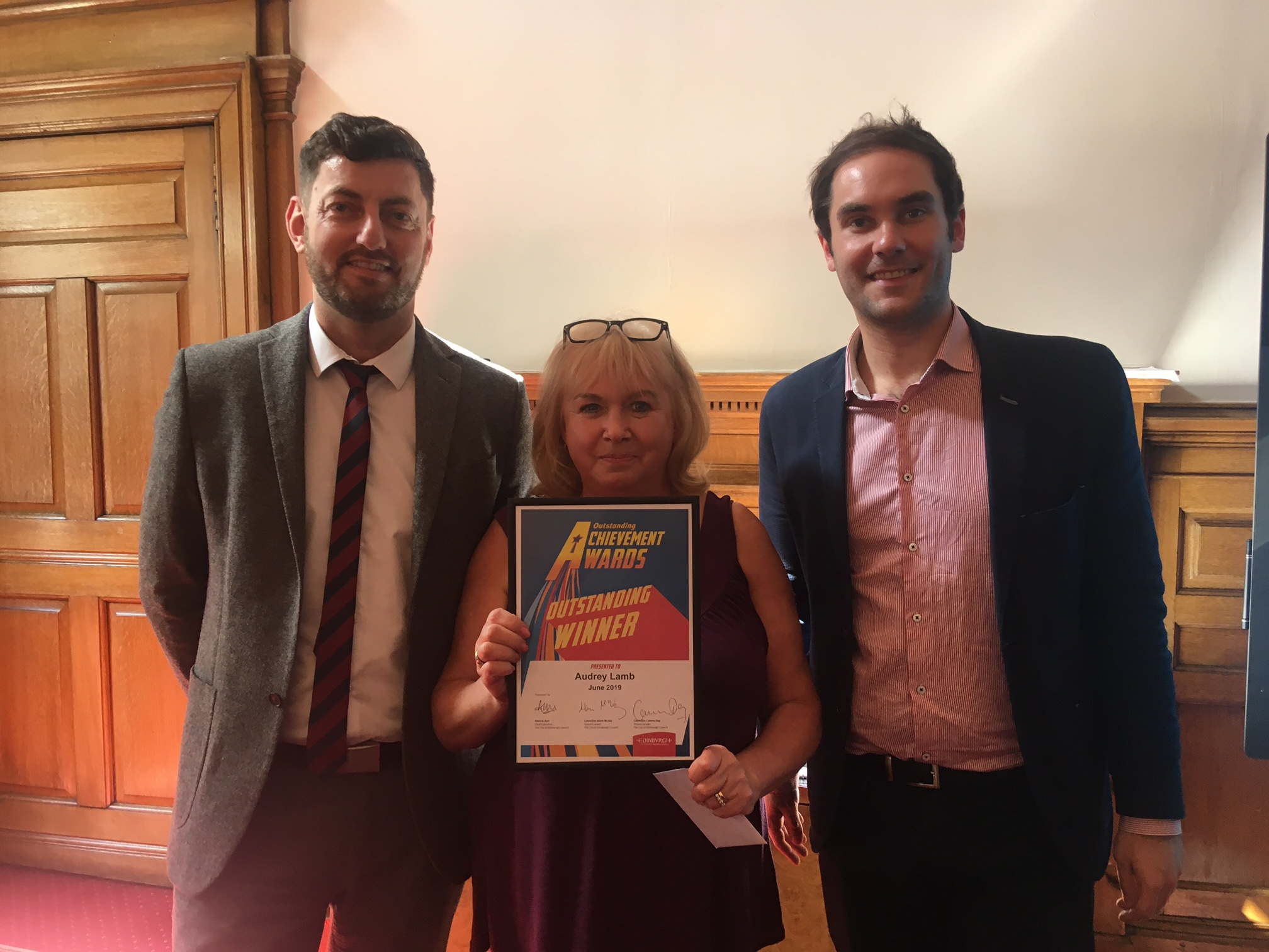 Outstanding Achievement Award For Foster Carer Audrey